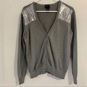 Torrid Grey Sequined Cardigan